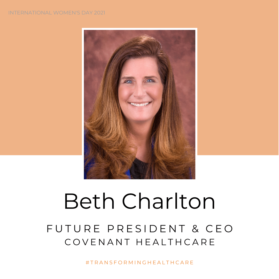 Photo of Beth Charlton, future president and CEO of Covenant HealthCare