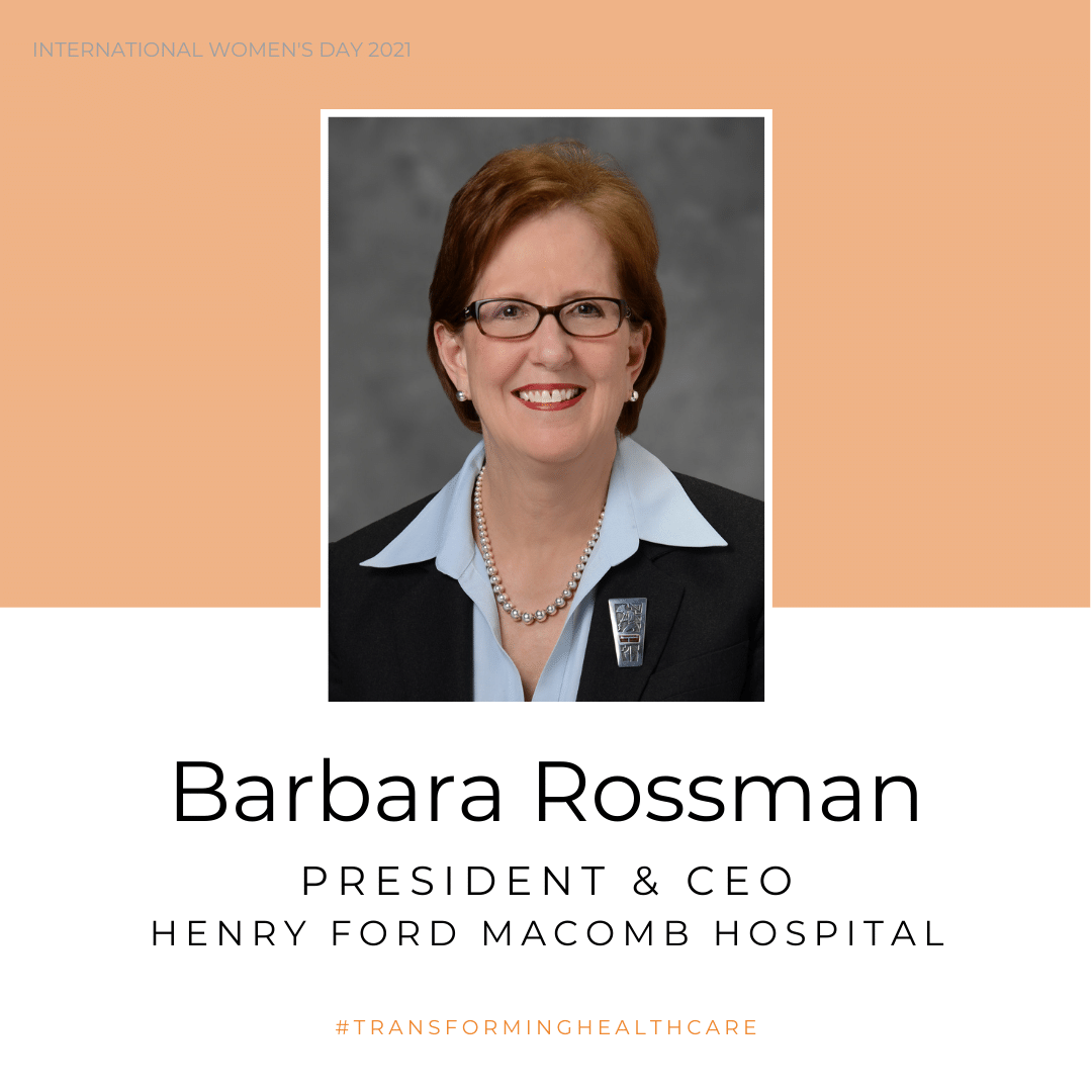 Photo of Barbara Rossman, president and CEO of Henry Ford Macomb Hospital